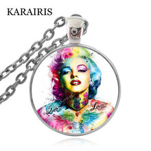 Karairis классика знаменитостей Мэрилин ожерелье с изображением