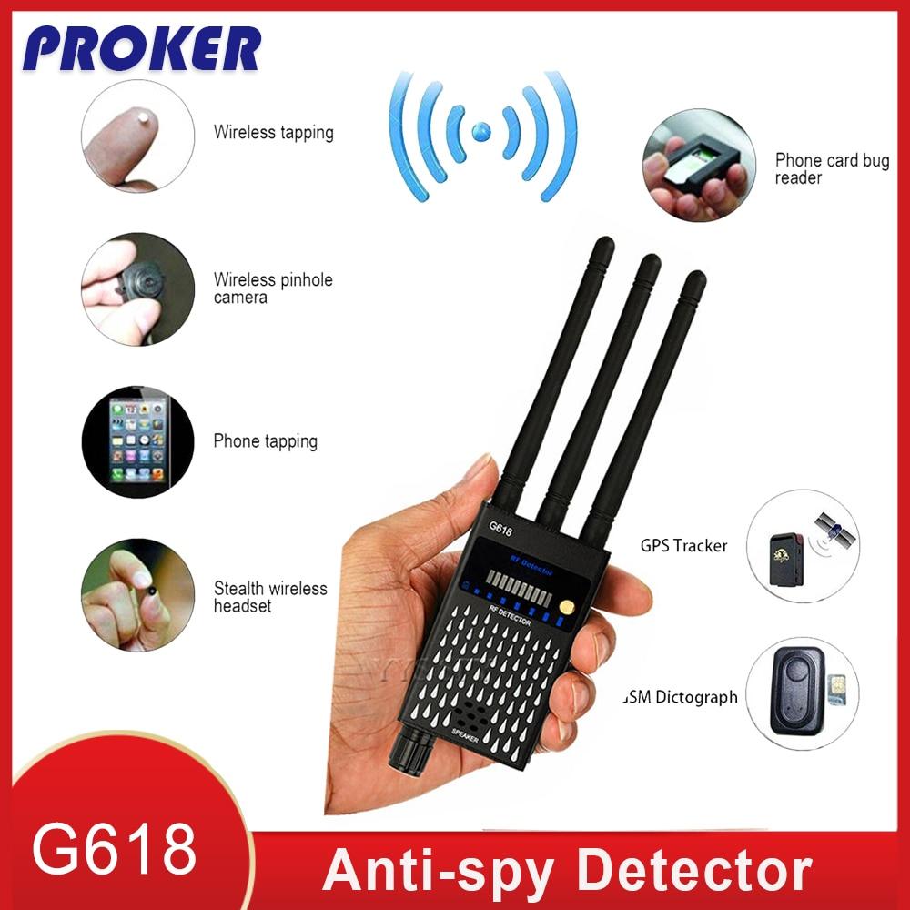 Proker детектор 3 Антенна Анти-шпион радиочастотный CDMA сигнала Finder спутникового для Ошибка GSM GPS трекер Беспроводной Скрытая Камера подслушива...