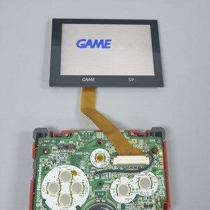 Image 4 - LCD أطقم شل الإسكان 5 مستوى السطوع تسليط الضوء على GBA SP IPS مغلفة عرض ل GAMEBOY مسبقا SP الخلفية PRE CUT قذيفة