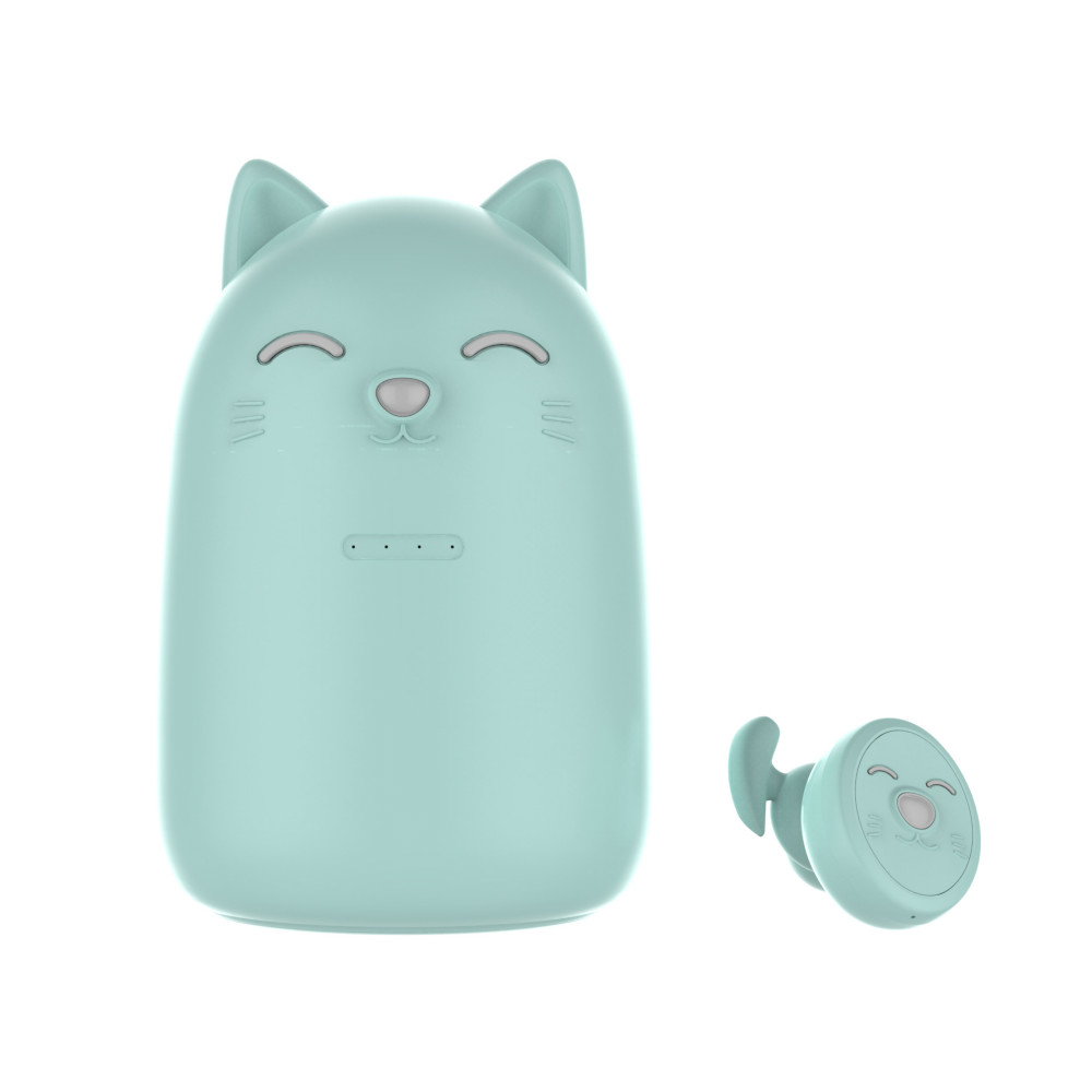 Intelligent <font><b>Cat</b></font> Shaped TWS Wireless <font><b>Bluetooth</b></font> Earphones Stereo Earbud Headset with Charger for Girls for iphone xiaomi image