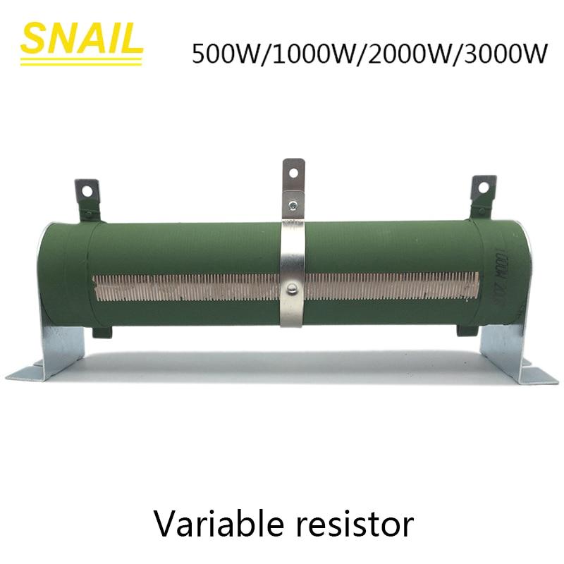 500w 1000w 2000w 3000w resistor variável, potenciômetro, tubo de porcelana, resistor ajustável, rheostat deslizante