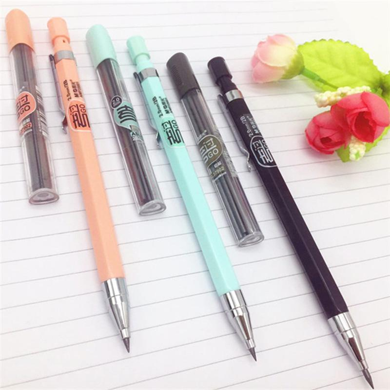 1 PC Candy Color Mechanical Pencil 2.0mm Pencils Pen For Writing Kids Girls School Office Supplies Stationery Pencils Pen 1