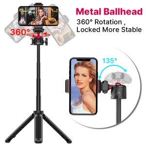 Image 3 - Ulanzi MT 16 wysuwany Mini statyw z zimnym butem do mikrofonu LED Light Selfie Stick kamera internetowa statyw do iPhone DSLR Sony Gopro Vlog
