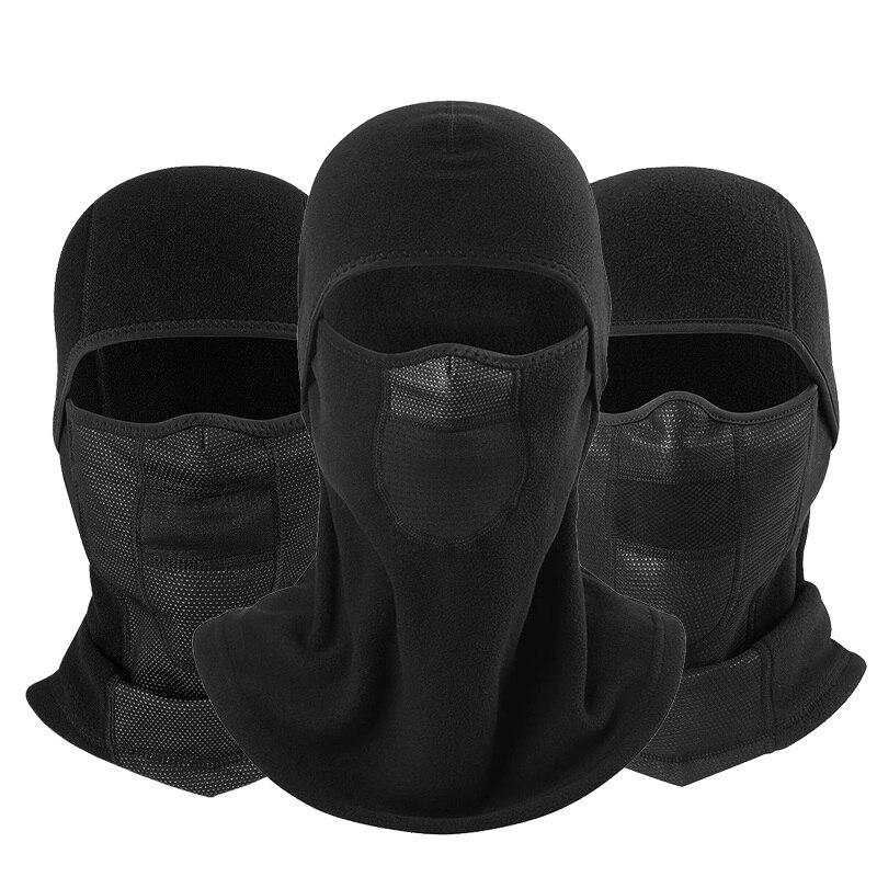 Polar Fleece Wool Neck Warmer Full Face Mask Balaclava Beanies Cap Breathable Windproof Bicycle Black Helmet Liner Men Women