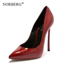 NORBERG 2019 new sandals women shoes fashion high heels  work pump woman wedding black summer