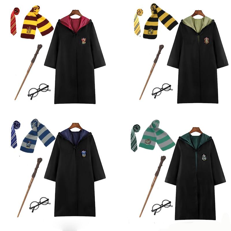 Slytherin Cosplay Costume Slytherin Robe Scarf Tie Set