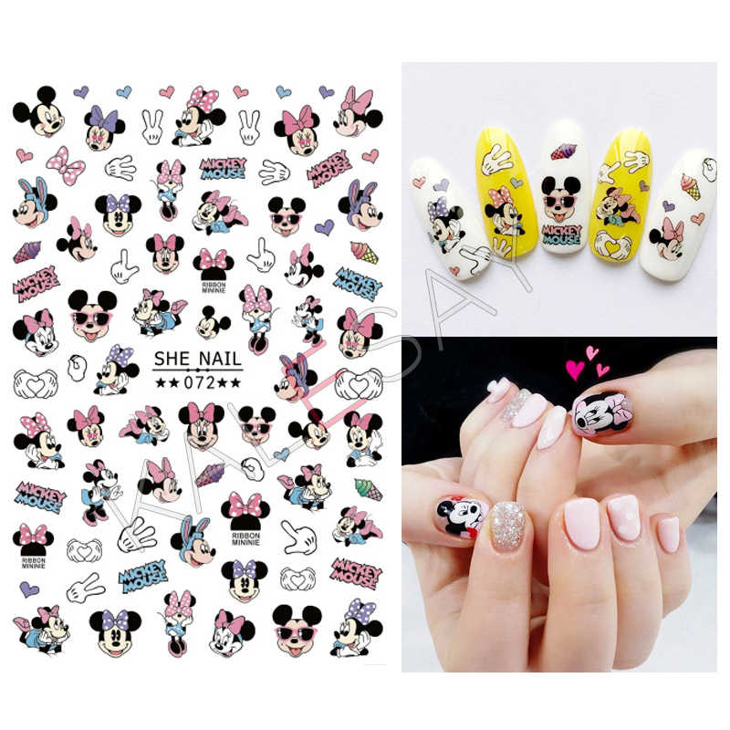FAI DA TE Nails Art Stickers Manicure 3D Del Fumetto Stamping Decorazioni Nail Design Posteriore Colla Unghie artistiche Adesivi per Unghie Tips Decalcomanie