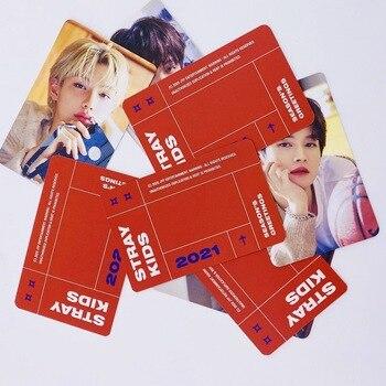 8pcs/set Kpop SKZ Stray Kids Colorful Photocard