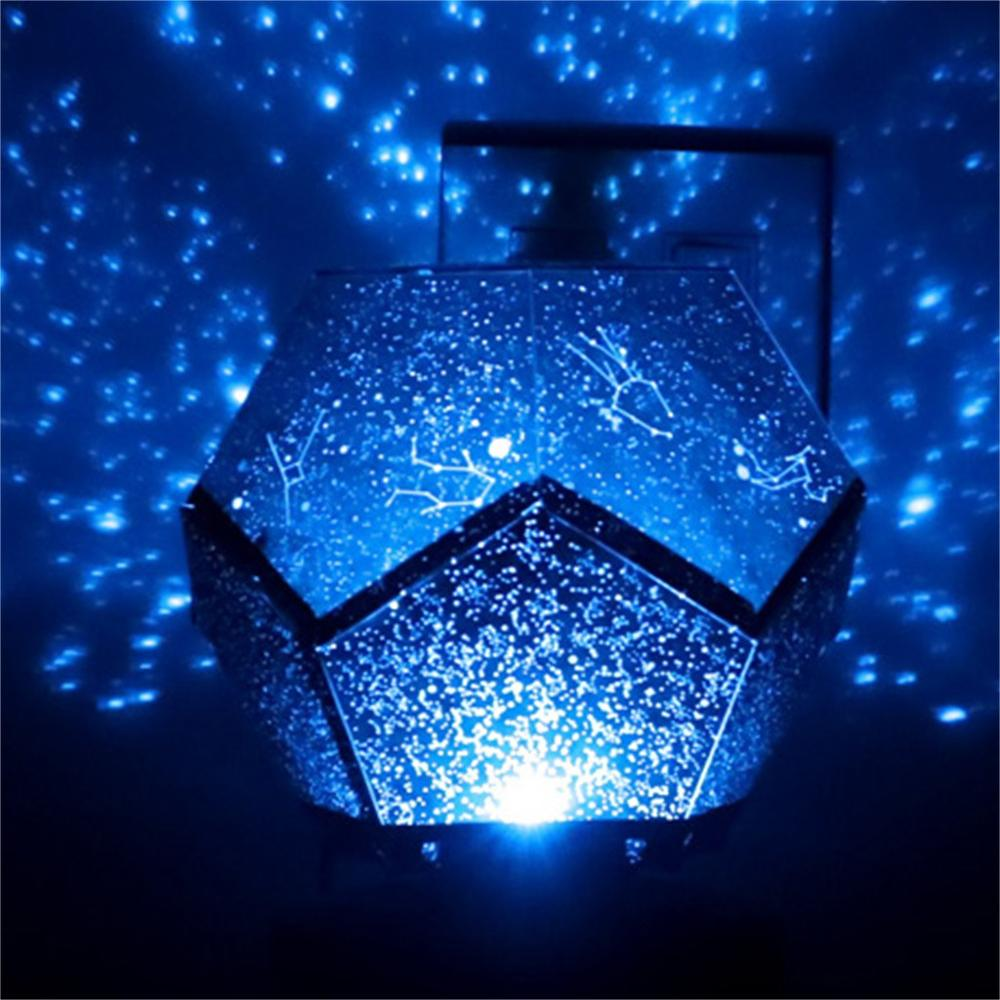 LED Projection Lamp 3 Color Conversion Rotating Play Starry Sky Projection Lights Bedroom Stars Romantic Starry Lights 2020
