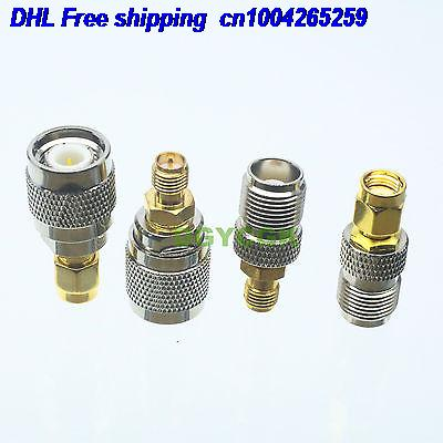 DHL 50sets 4pcs/set Adapter RPSMA To TNC Female F  Male M Kit Connector  For Communication Adapter Connector  22cs