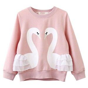Одежда для маленьких девочек; Осенне-весенний свитер с рисунком; Детская одежда; Детская футболка с длинными рукавами для девочек; Одежда дл...
