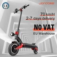 Janobike-patinete eléctrico plegable para adultos, Scooter con Motor Dual de 75 KM/H y 2400W, batería de 52V y 23,4ah