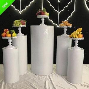 New Products white mental pedestal display pedestal table stand Cylinder Pedestal Display Art Decor Pillar wedding senyu01291