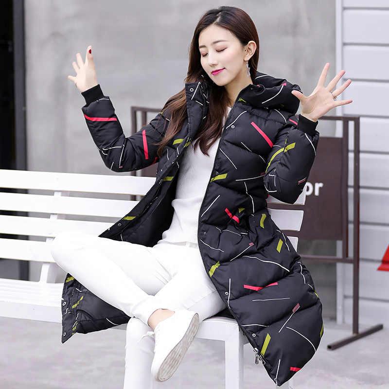2020 nowa kurtka zimowa kobiety Parka dół bawełny długi płaszcz kobieta gruby koreański parki Mujer płaszcz Jaqueta Feminina KJ619