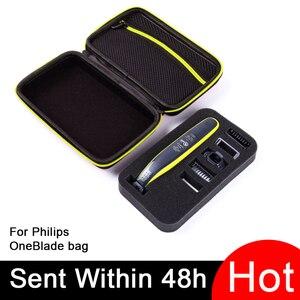 Image 1 - Caso portátil para philips oneblade trimmer barbeador e acessórios eva saco de viagem caixa pacote de armazenamento sem navalha atenção apenas caso