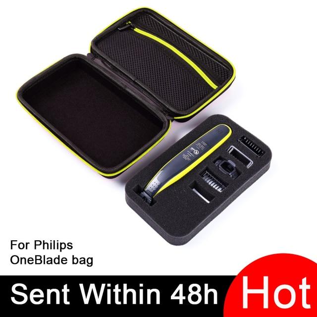 필립스 용 휴대용 케이스 OneBlade 트리머 면도기 및 액세서리 EVA 여행용 가방 보관함 상자 면도기 전용 케이스 없음