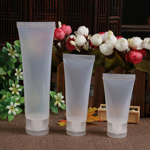 5pcs 15/20/30/50/100 ml Empty Portable Cosmetic Tube Squeeze Facial Cream Container Flip cap Lotion Travel Bottle Pot Gel Box