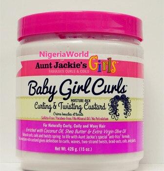 Aunt Jackie's Baby Girl Curling Twisting Custard Hair Cream /426g