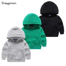 2020 Spring Cute Childrens Sweater Cotton Solid Color Clothes Childrens Clothing White Hooded Sweater For Baby Boys And Girls