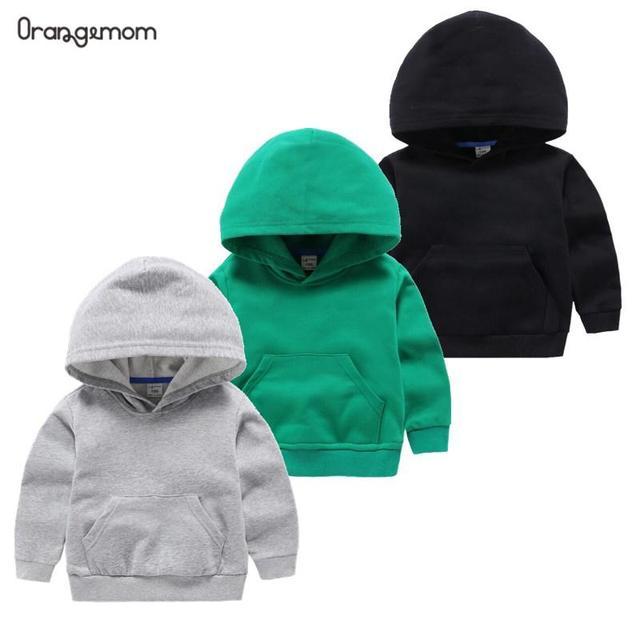 2020 אביב חמוד ילדים של סוודר כותנה מוצק צבע בגדי בגדי ילדים לבן סלעית סוודר עבור תינוק בנים ובנות
