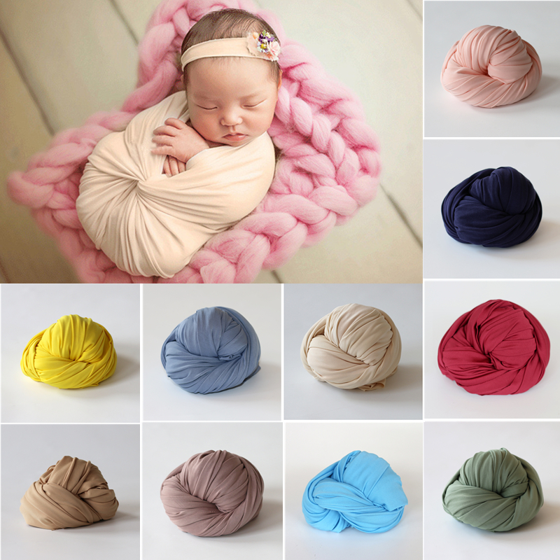 50cm*150cm Stretch Soft Newborn Photography Wraps Baby Photo Props Accessories Studio Infant Shooting Wrap Baby Swaddling Wrap