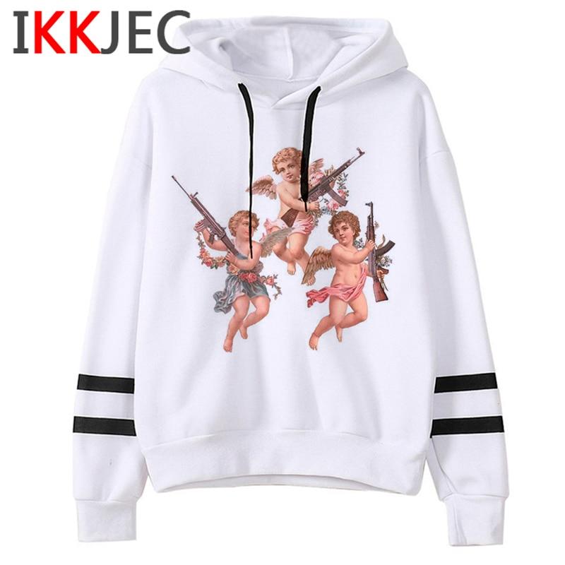 New Angel Aesthetic Harajuku Hoodies Men/women Ullzang Funny Cartoon 90s Sweatshirt Winter Warm Grunge Graphic Hoody Male/female 4