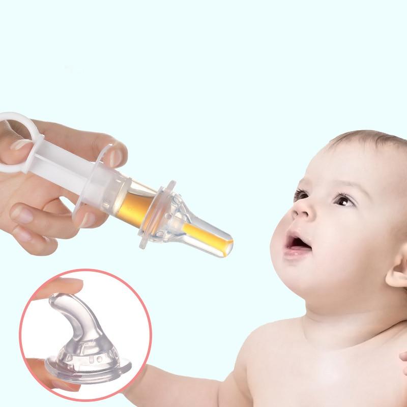 Baby Smart Medicine Dispenser Needle Feeder Squeeze Medicine Dropper Dispenser Transparent Pacifier Kids Feeding Utensils