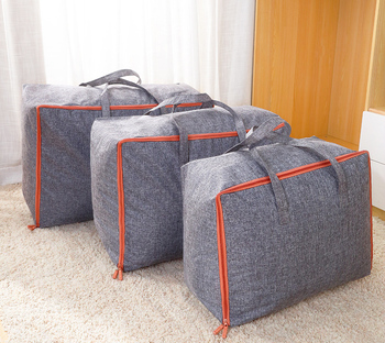 Large-capacity canvas moving house luggage clothes storage portable extra large  travel bag quilt big no smell - sale item Travel Bags