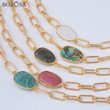 Ожерелье borosa с белым кристаллом золотые металлические ожерелья