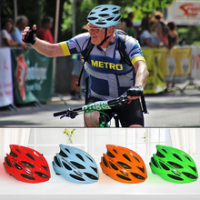 4 colors Bicycle Helmet Mountain Road Bike Cycling Helmet Ultralight EPS+PC Cover Integrally-mold MTB Men And Women Safely Cap men 240g ultralight road bike helmet racing bicycle sports safety helmet cycling 36vents mountain bike in mold helmet top pc eps