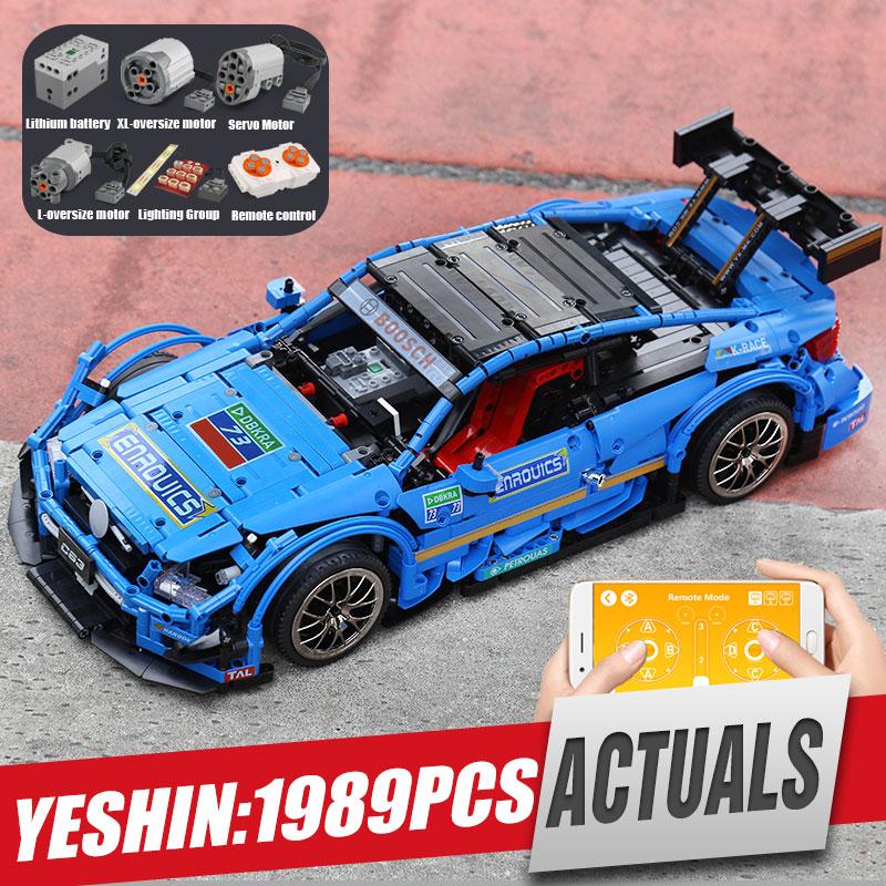 Yeshin 20005 DHL Technik Series Kompatibel Mit MOC 6687 Blau Geschwindigkeit Auto Set Bausteine Ziegel App Control RC Autos Modell-in Sperren aus Spielzeug und Hobbys bei  Gruppe 1