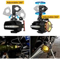 Turn Signal Flash fog Headlamp Spotlight DRL Auxiliary Spot Driving Lights Protective Guard For BMW Motorcycle R1200GS F800GS