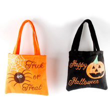 Hand-held portable Halloween non-woven cloth portable candy bag holiday