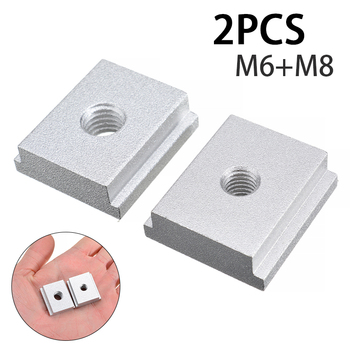 2pcs/set 25mm M6 M8 T Slot Nut Aluminum Alloy T-Track Sliding Nut for Woodworking Slot Fastener Tool peng fa 35 steel t nut sleeve steel t type sliding nut milling working table fixing t bolts t slot nuts set t slots nut for t tr