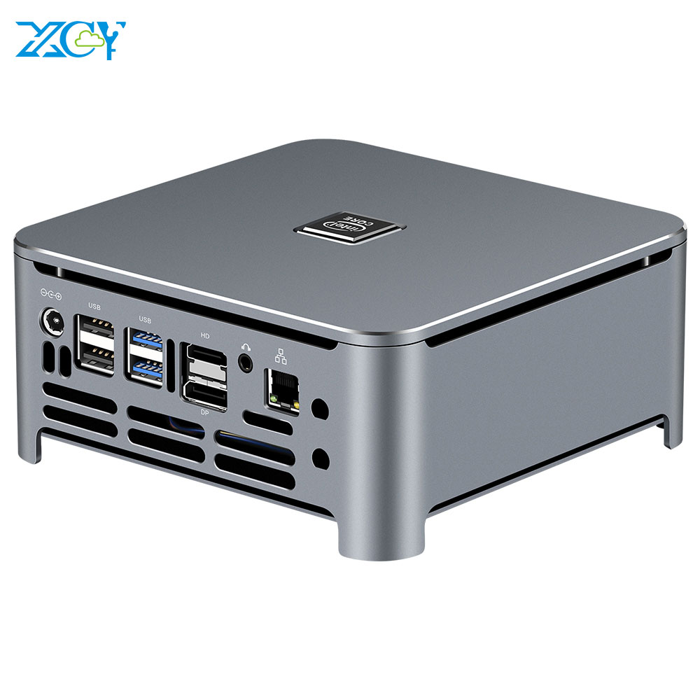 XCY Mini PC 9th Gen Intel Core i7 9850H i5 9400H 2*DDR4 M.2 SSD Windows 10 HDMI DP 4K 5*USB Type-C 2.4/5.0G WiFi Bluetooth4.0