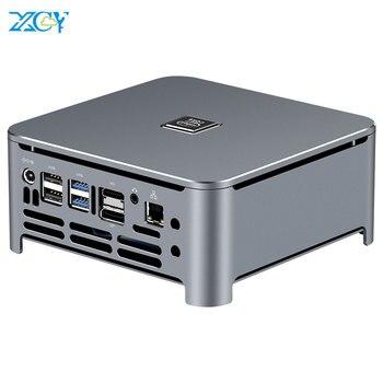 XCY Mini PC 9th Gen Intel Core i7 9850H i5 9400H DDR4 M.2 NVMe SSD Windows 10 HDMI DP 4K 5 * USB Typ-C 2.4/5,0G WiFi Bluetooth 4,0