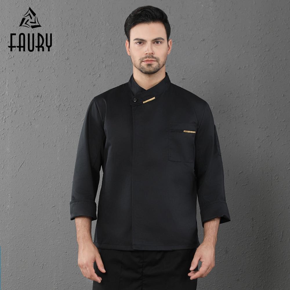 Long Sleeve Chef Coat Unisex Hotel Restaurant Uniform Kitchen Cooking Jacket Cafe BBQ Bakery Barber Waiter Lady Chef Jacket