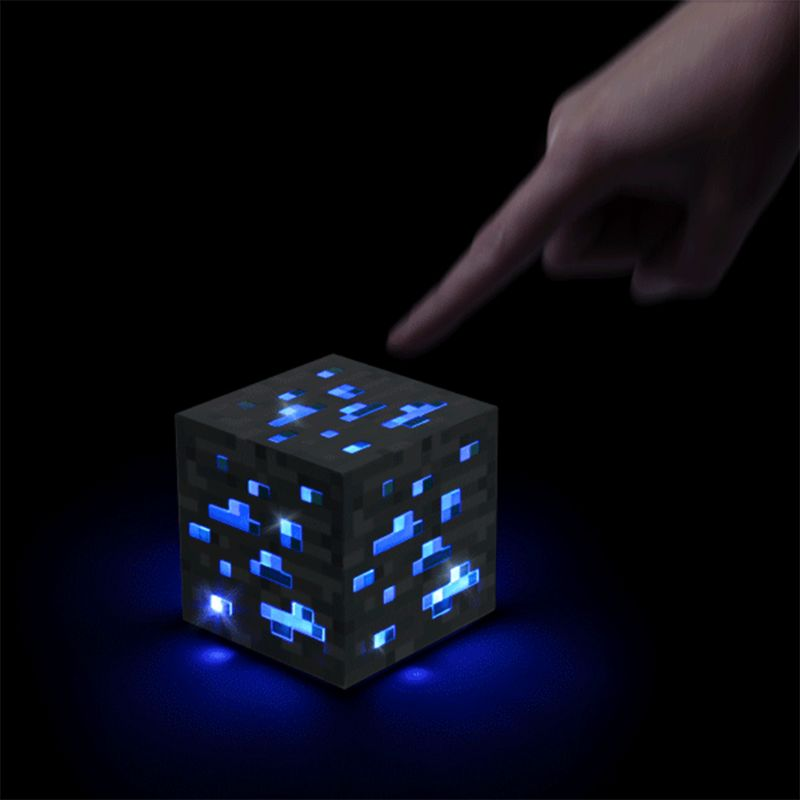 Night Light Cube Lamp Creative Cube Nightlight Battery Power Supply 4 Optional Colors LED Toys Home Decor Children Gift