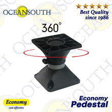 Oceansouth Economy Pedestal Aluminium Tube Swivel 360 Degree Rotation Top Suitable For Standard Boat Seats Fishing Boating
