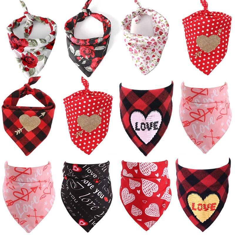 font b Pet b font Cat Dog Bandana Valentine s Day New Lovely Heart Cotton