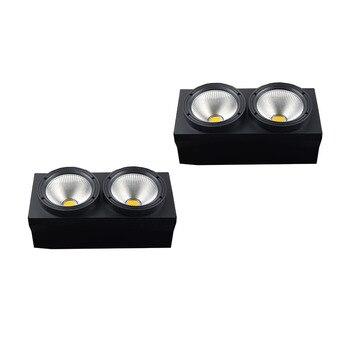 2 шт./лот 2 глаза 200 Вт светодиодный COB ослепляющий свет холодный белый + теплый белый DMX512 сценический эффект Освещение хорошо для DJ Дискотека ...