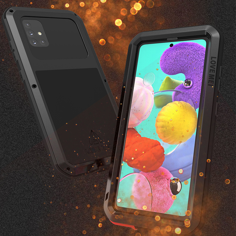 For Samsung Galaxy A51 Luxury Doom Armor Duty Shockproof Metal Aluminum Phone Cases For Samsung S20 20 Ultra 5G S10E Note10+
