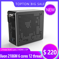 Intel Xeon E 2186M/Xeon E3 1505M 2*DDR3L/DDR4 Mini PC Server Windows 10 Pro UHD Graphics 630 HDMI Mini DP WiFi Desktop Computer