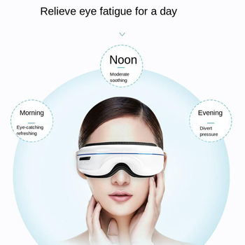Wireless Vibration Heat Compression Voice Control Eye Massager Music Bluetooth Air Pressure Relaxation Fatigue Eye Care Device