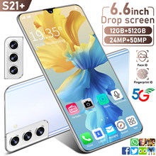 2021Global Version S21+ 6.6 Inch SmartPhone 10 Core MTK6889 12+512GB 24+50MP HD Full Screen Support Face ID 4G LTE 5G Cell Phone