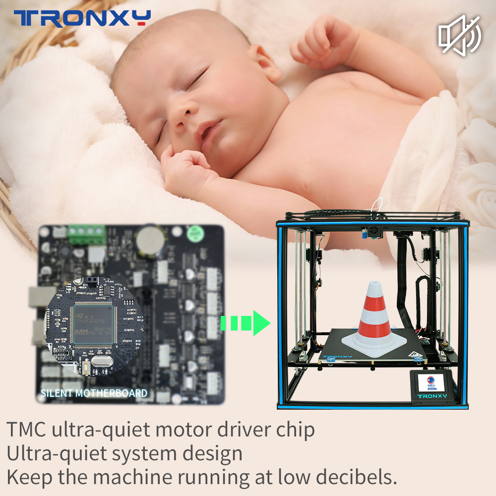 2020 Newest Tronxy 3D Printer X5SA-2E 2 Color Gradients 330*330 Dual Extruder 2 in 1 out Multi Color Head DIY Kits Auto level