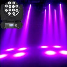 LED 12x12W yıkama hareketli kafa led sahne ışık rgbw RGBW 4in1 Quad LED lamba gelişmiş 9/16 DJ DMX kanalları profesyonel sahne için