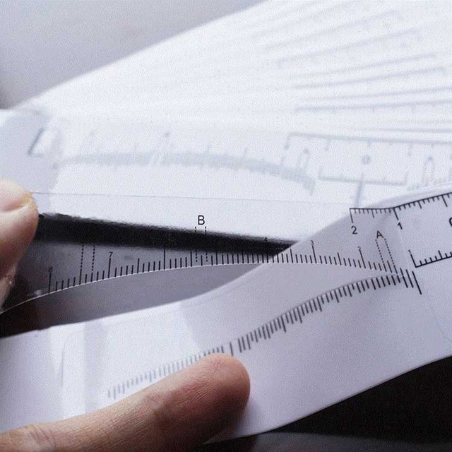 Reusable Semi Permanent Eyebrow Stencil Makeup Microblading Measure Tattoo Ruler Tools,Eyebrow Stencil 5