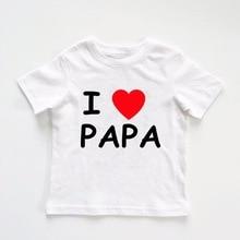 Baby T-Shirt Newborn White Baby-Boy-Girl Dropship Tops Cotton Short Letter 0-24M Print