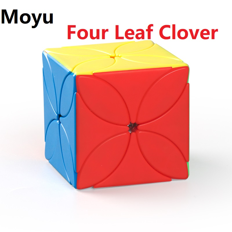 New MoYu Meilong Four Leaf Clover Magic Cube Stickerless Puzzle 4-Leaf Cube Speed Cubo Magico Educational Toys For Kids Students